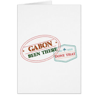 Cartão Gabon feito lá isso