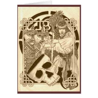 Cartão Gaia & bruxa