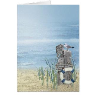 Cartão Gaivota da praia