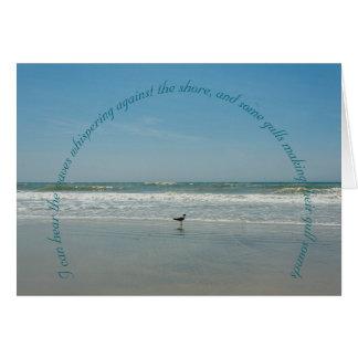 Cartão Gaivota do oceano