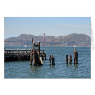 Cartão Gaivota no cais de San Francisco Bay