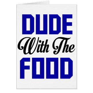Cartão Gajo com a comida - design engraçado