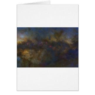 Cartão Galáxia abstrata com nuvem cósmica