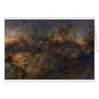 Cartão Galáxia abstrata com nuvem cósmica 2