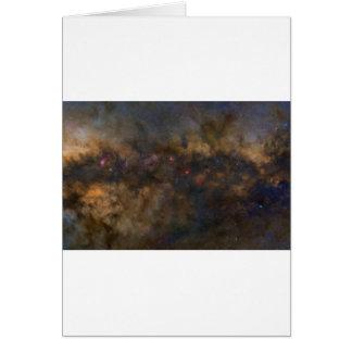 Cartão Galáxia abstrata com sml cósmico da nuvem 2