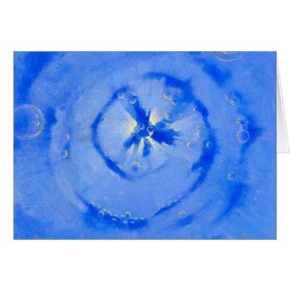 Cartão Galáxia azul