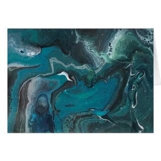 Cartão Galáxia de turquesa