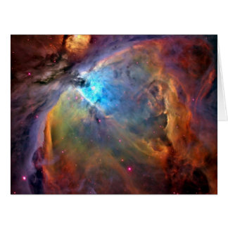 Cartão Galáxia do espaço da nebulosa de Orion