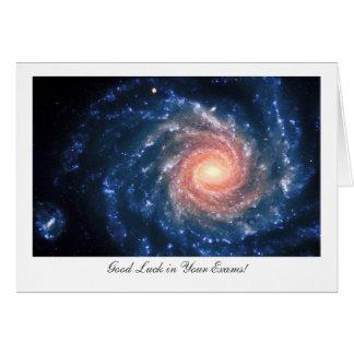 Cartão Galáxia espiral NGC253 - boa sorte em seus exames