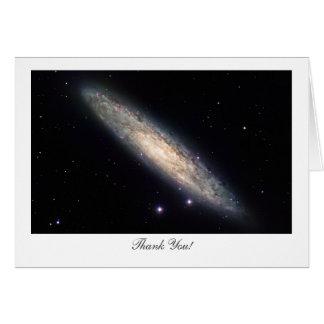 Cartão Galáxia espiral NGC253 - dizendo o obrigado você