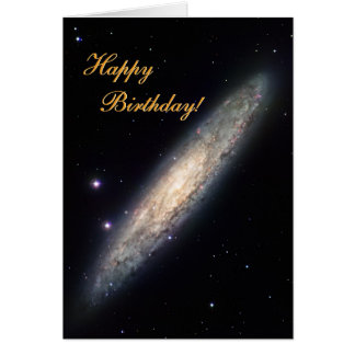 Cartão Galáxia espiral - NGC 253