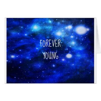 Cartão Galáxia para sempre nova do espaço