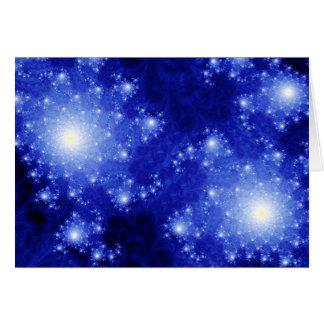Cartão Galáxias azuis
