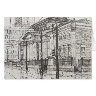 Cartão Galeria de arte Manchester da cidade. 2007