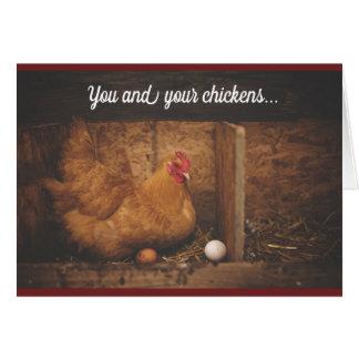 Cartão Galinha das galinhas do amor que pensa de você