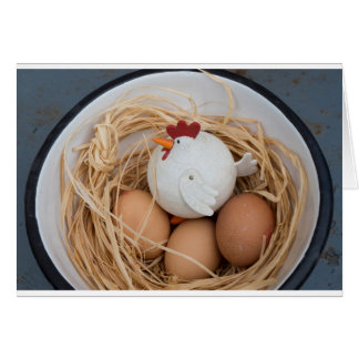 Cartão Galinha & ovos