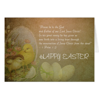 Cartão Galinhas cristãs do verso da bíblia do felz pascoa