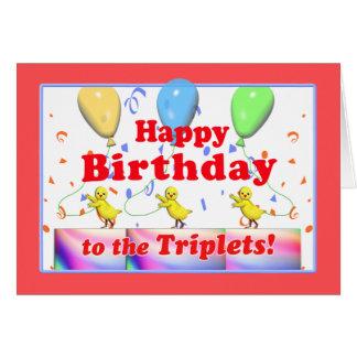 Cartão Galinhas do feliz aniversario para objectivas