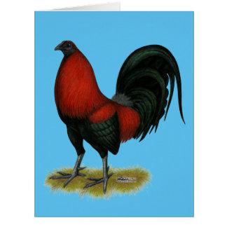Cartão Galo americano do vermelho do preto do BB do jogo