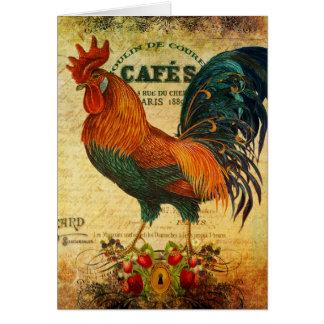 Cartão Galo do café