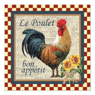 Cartão Galo francês