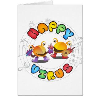 Cartão Gama de produtos feliz do vírus