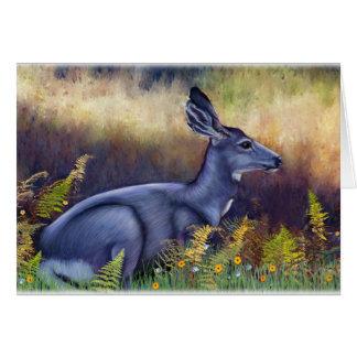 Cartão Gama dos cervos de mula