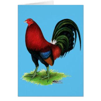 Cartão Gamecock:  Escuro - vermelho