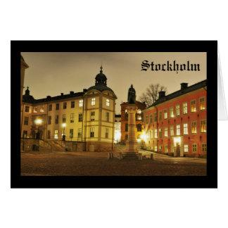 Cartão Gamla Stan em Éstocolmo, suecia
