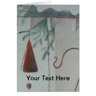 Cartão Gancho e carrilhão