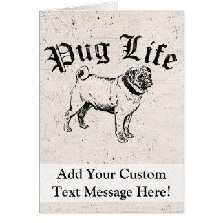 Cartão Gângster engraçado do cão da vida do Pug