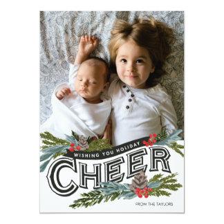 Cartão Ganhos do elogio do feriado do vintage