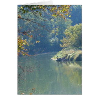 Cartão Garça-real pelo rio