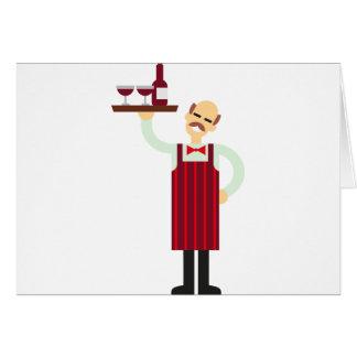 Cartão Garçom de vinho