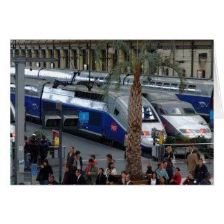 Cartão Gare de Lyon. Paris, France