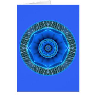 Cartão Garganta Chakra da felicidade de uma comunicação