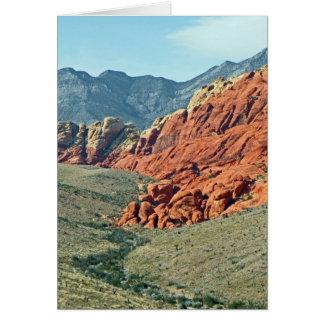 Cartão Garganta vermelha da rocha