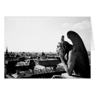 Cartão Gárgula de Notre Dame