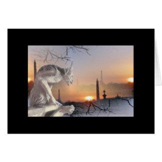 Cartão Gárgula de Notre-Dame!