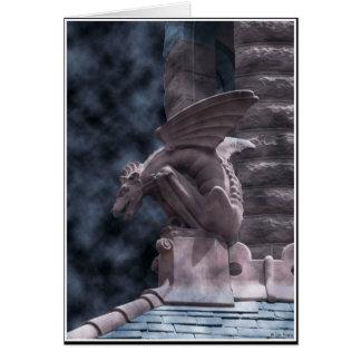 Cartão Gárgula do Dia das Bruxas