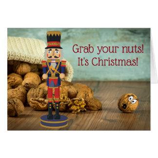 Cartão Garra engraçada seu Natal do Nutcracker dos loucos
