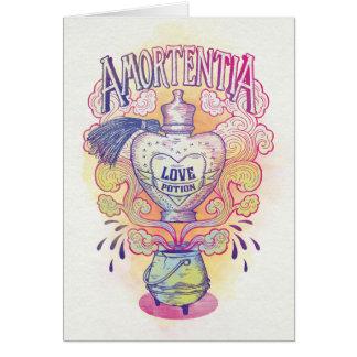 Cartão Garrafa da poção de amor do período   Amortentia