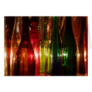 Cartão Garrafas de vidro do vintage