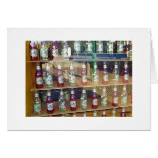 Cartão Garrafas holandesas da fotografia na janela