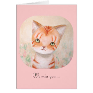 Cartão Gatinho alaranjado bonito do gato de gato malhado