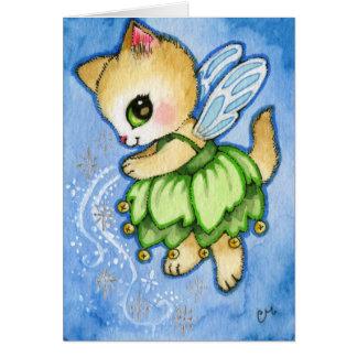 Cartão Gatinho de Bell do funileiro - gato bonito do