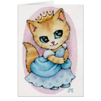 Cartão Gatinho de Cinderella - arte bonito do gato do