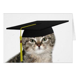 Cartão Gatinho de graduação