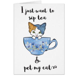 Cartão Gatinho no TeaCup
