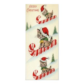 Cartão Gatinhos adoráveis do vintage três na lata dos